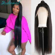 Rosabeauty 28 30 inch Transparent 13x6 Lace Front Human Hair Wigs