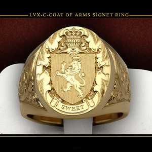NPKDS Males Luxury 18K Yellow Gold Color Ring Crown Lion Sculpture Coin Finger Ring Punk Biker Rings for Men Rock Jewelry