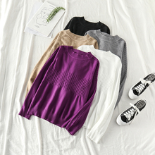 Mooirue Sweater Women Autumn Solid Round Neck Basic Pullovers Plus Size Streetwear Casual Korean Style Winter Clothes