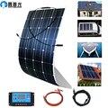 панели солнечных батарей солнечная батарея панель 100 Вт Гибкая 12 в зарядное устройство монокристаллический солнечный элемент для 1000 Вт сол...