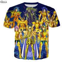 CLOOCL-camisetas con cuello redondo para hombres y mujeres, ropa de calle 3D con estampado de los Caballeros de Anime del zodiaco Saint Seiya, de verano