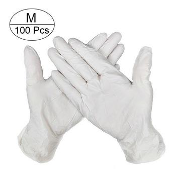 Jednorazowe rękawiczki medyczne lateks 100 sztuk anti-koronawirusa rękawice ochrony każdego dnia twarzy maska chirurgiczna tanie i dobre opinie NoEnName_Null 45677432 Ding Yan 100PCS Rękawice medyczne