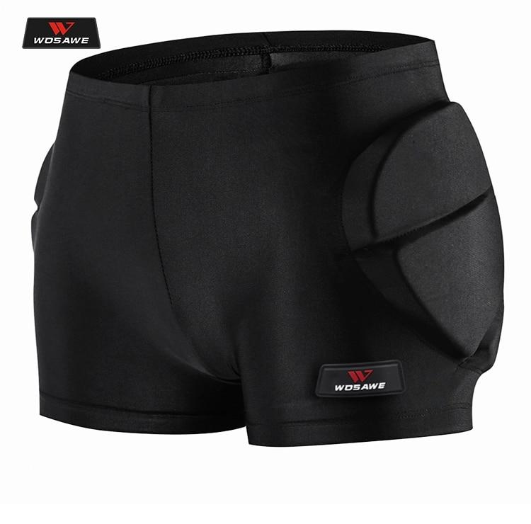 WOSAWE Motorcycle Hip Protector Motocross Shorts Moto Armor Pants Skiing Skating Riding Racing Protective Hip Padded Protection