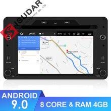 Isudar 1 Din Android 9 Automotivo Radio Alfa/Romeo/araña/Brera/159 Sportwagon coche reproductor Multimedia DVD GPS Octa Core DSP