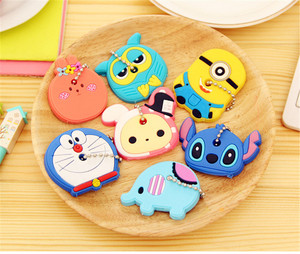 4pc Lovely Cartoon Silicone Protective Key Case Cover For Key Control Dust Cover Holder Animation Figures key Pendant Key Holder