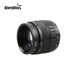 GloryStar 50mm F1.4 CCTV TV Movie lens+C Mount+Macro ring For Canon EOS EF EFS DSLR Camera 5D 6D 7D II III 70D 80D C-EOS