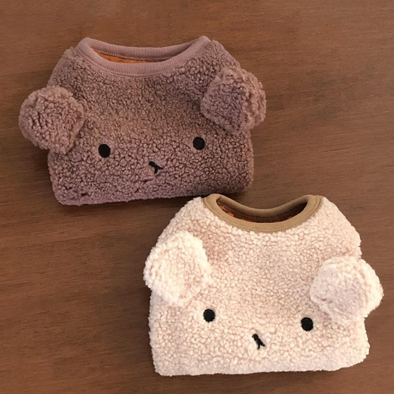 11.99US $ 50% OFF Cute Winter Dog Clothes Cute Bear Shape Warm Fleece Clothes For Dog Pets Coat Swea...