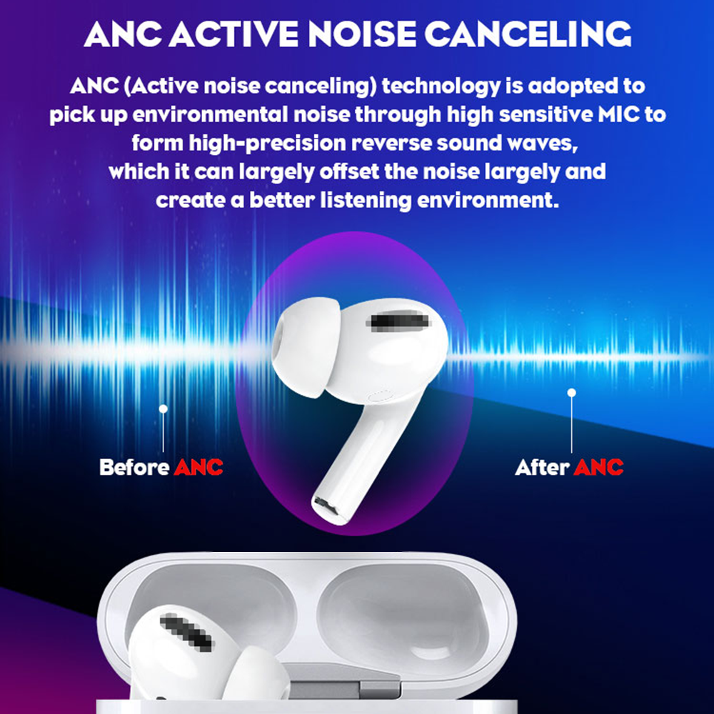 Aibevi Bluetooth Earphone TWS Upgrade Noise Cancelling Wireless In-Ear Sport ANC Stereo Earbuds Headset For All Smart Cell Phone