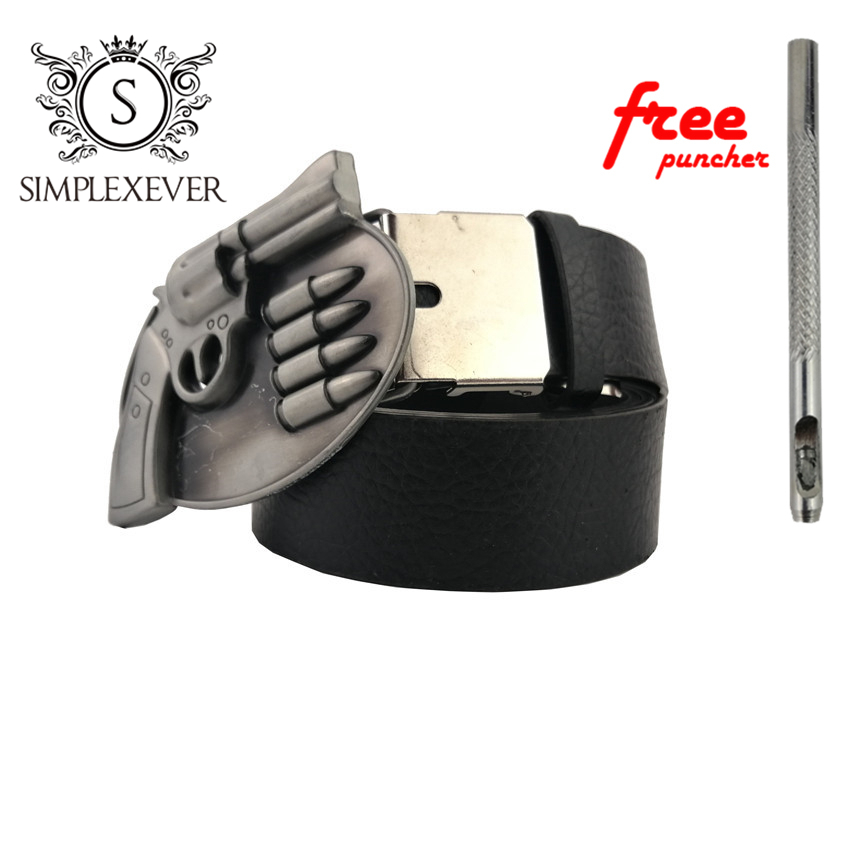 Silver Belt Buckle With Leather Belt Western Belt Buckle Gun Metal Belt Buckle Suitable For 4cm Width Belt Drop Shipping