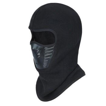 Winter Outdoor Face Mask Warm Bicycle Bike Climbing Skiing Windproof Carbon Filter Thermal Fleece Balaclava Head Protector
