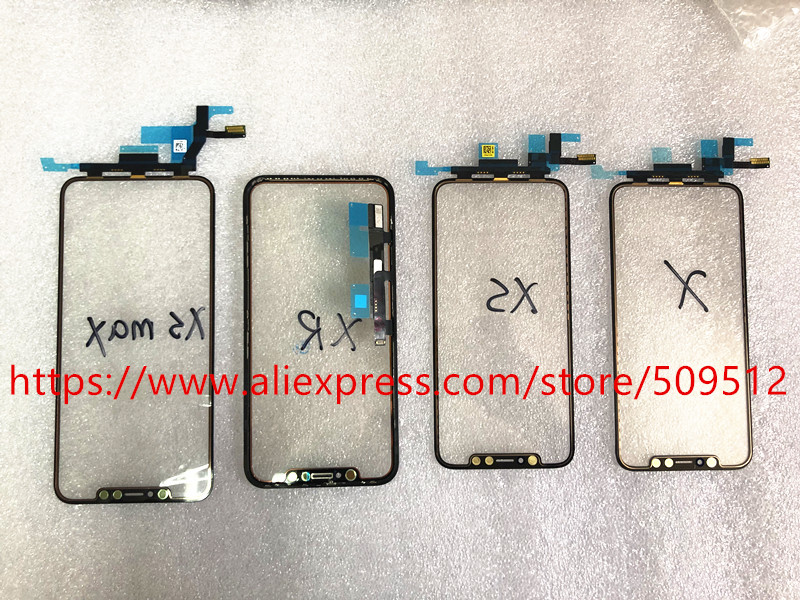 1pcs Original LCD Display Touch Screen Front Outer Glass Panel with Flex Cable For iPhone X XS Max XR Replacement Parts(China)