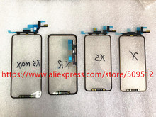 1pcs Original Touch Screen Front Outer Glass Panel with Flex Cable+ OCA For iPhone X XS Max XR 11 11Pro max Replacement Parts