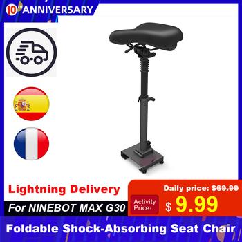 Oryginalne elektryczne skuter Max G30 siedzenia dla Ninebot Max G30 elektryczne skuter deskorolka siedzenia elektryczne akcesoria do skuterów tanie i dobre opinie Płaskie CN (pochodzenie) Deskorolka elektryczna UE Wtyczka 420 * 220 * 200mm Aluminum+iron+leather Foldable Shock-Absorbing Seat Chair