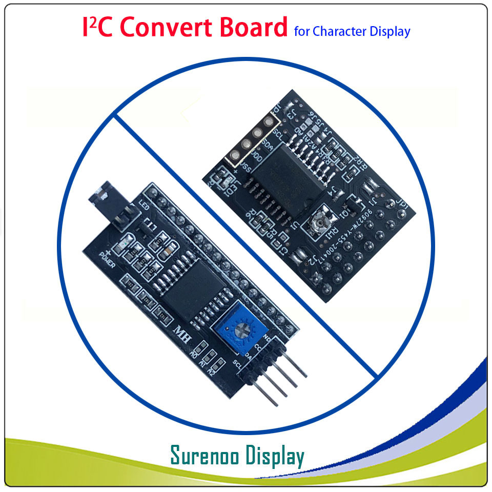 Serial IIC / I2C / TWI Convert Board Module For 0802 1601 1602 2002 4002 1604 2004 Character LCD Module Display For Arduino