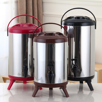8L10L12L Commercial Bucket with Tap Milk Tea Barrel Double InsulatedBarrel Coffee juice soy Milk Barrel tea Bucket Containers