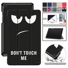 Magnetic Printed Cover Case for Samsung Galaxy Tab A 8.0 SM-T290 T295 T297 2019 Protective Skin PU Leather Case for T290 SM-T295 стоимость