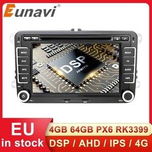 Image 1 - Eunavi 2 דין אנדרואיד DVD לרכב רדיו מולטימדיה נגן GPS עבור פולקסווגן גולף 5 6 פולו בורה ג טה פאסאט b6 b7 Tiguan סאב Autoradio