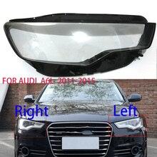 아우디 A6 C7 S7 2011 2014 리프트 램프 렌즈 크세논 LED 헤드 라이트 전등 갓 투명 렌즈 보호 쉘 유리 렌즈 헤드 램프