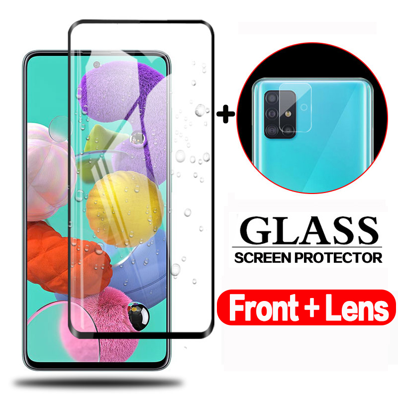Full Cover Tempered Glass For Samsung Galaxy A51 A71 Camera Protective Glass On Samsun A71 A515F A 71 51 Screen Protector Film