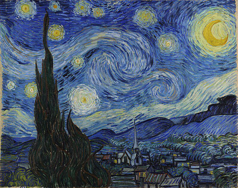 Oil Painting reproduction on linen canvas,Starry Night by Vincent Van Gogh,,Free DHL Shipping,100% handmade