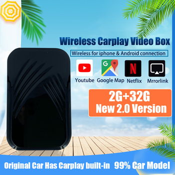 Car TV Box Carplayer Android system plug and play For Apple Tv Ai Auto 2GB RAM 32GB ROM Wireless Mirrorlink Video