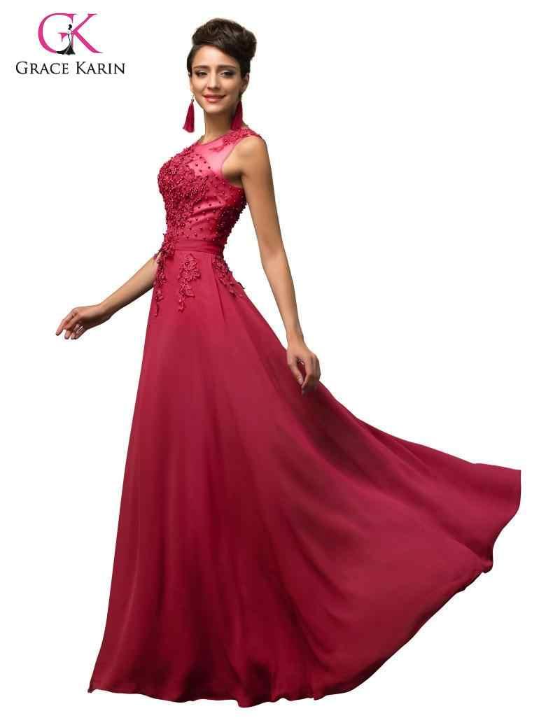 Gnade Karin Abend Party Kleider Frauen Chiffon-Kleid Lange Maxi Formale Abendkleid Elegante Bodenlangen Party Kleid