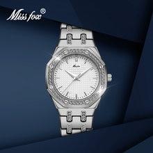 Женские серебряные часы missfox лидер продаж роскошные брендовые