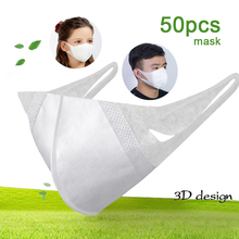 Disposable Children Kid Masks 3 layer Non Woven 3D Breathable Adult Mouth Mask Respirator mascarillas Mouth muffle Health Care