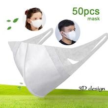 Wegwerp Kinderen Kid Maskers 3 Layer Non Geweven 3D Ademend Volwassen Mond Masker Respirator Mascarillas Mond Moffel Gezondheidszorg