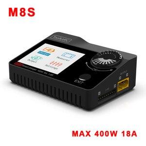 Балансирующее зарядное устройство для батареи ToolkitRC M8S, 400 Вт, 18A, 2-8S, для Lilon, LiHV, NiMH, Pb, с сервометром, ШИМ, PPM, Sbus