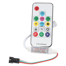 14key ws2811 ws2812 controle remoto sem fio controlador sp103e rgb luz de tira 5v 12v led strip ws2812b controlador