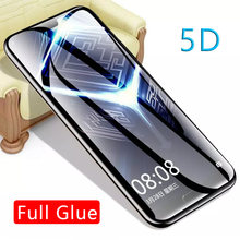5d full glue tempered glass for huawei p20 lite pro mate 20 10 p10 case protective screen protector phone safety tremp on honor(China)