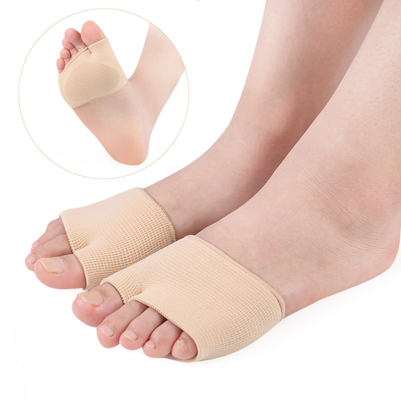 Fabric Metatarsal Sleeve With Sole Cushion Gel Pads, Half Sock Supports Metatarsalgia, Mortons Neuroma, Ball Of Foot Pain