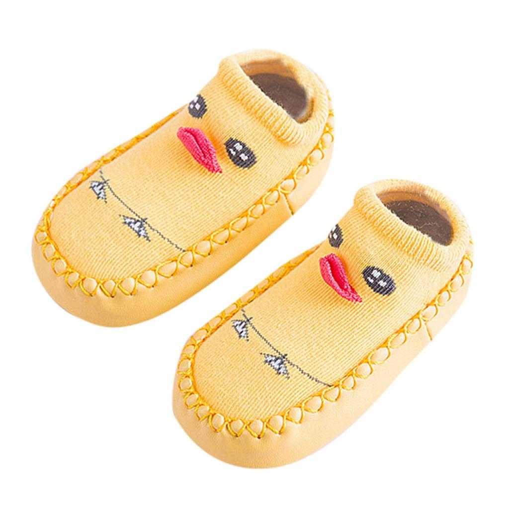 Newborn Baby Knee Pads Boys Girls Animal Warm Slipper Anti-slip Slipper Floor Shoes Socks Beenwarmers Rodilleras Bebes Gateo
