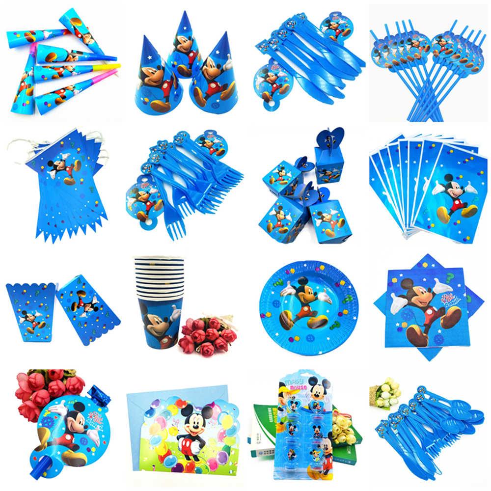 10 Pcs/lot Kartun Mickey Mouse Theme Eye Cover Nikmat Masker Wajah Dekorasi Pesta Ulang Tahun Anak Laki-laki Masker Anak-anak Pesta Ulang Tahun