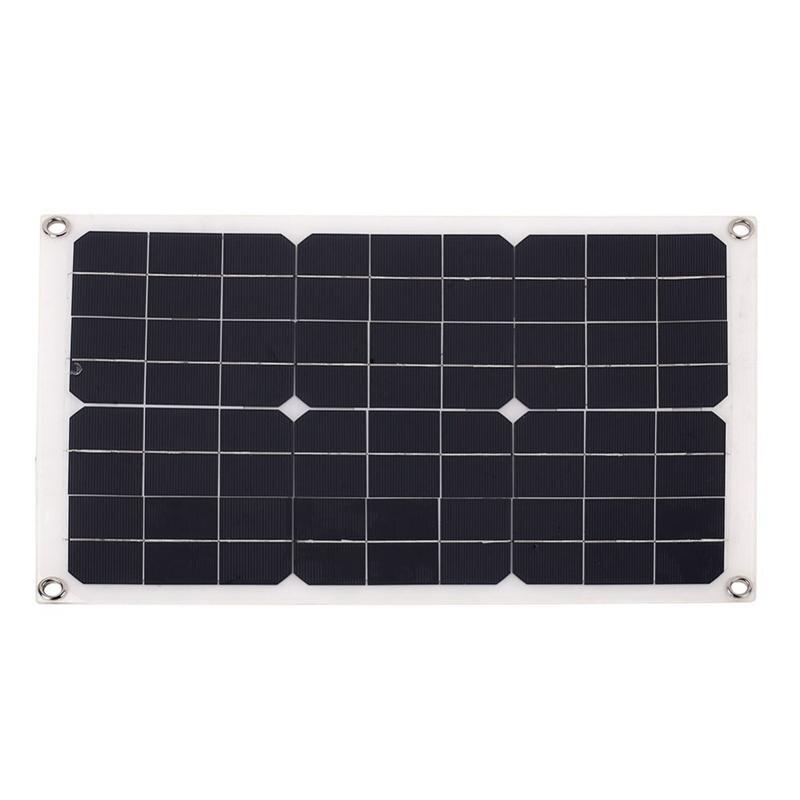 Panel Solar al aire libre 20W 18V fuente de alimentación de emergencia de celda Solar portátil generador Solar Puerto USB + cargador de energía de paneles solares de CC Plegable 20W USB Panel Solar portátil plegable impermeable cargador de Panel Solar cargador de batería móvil