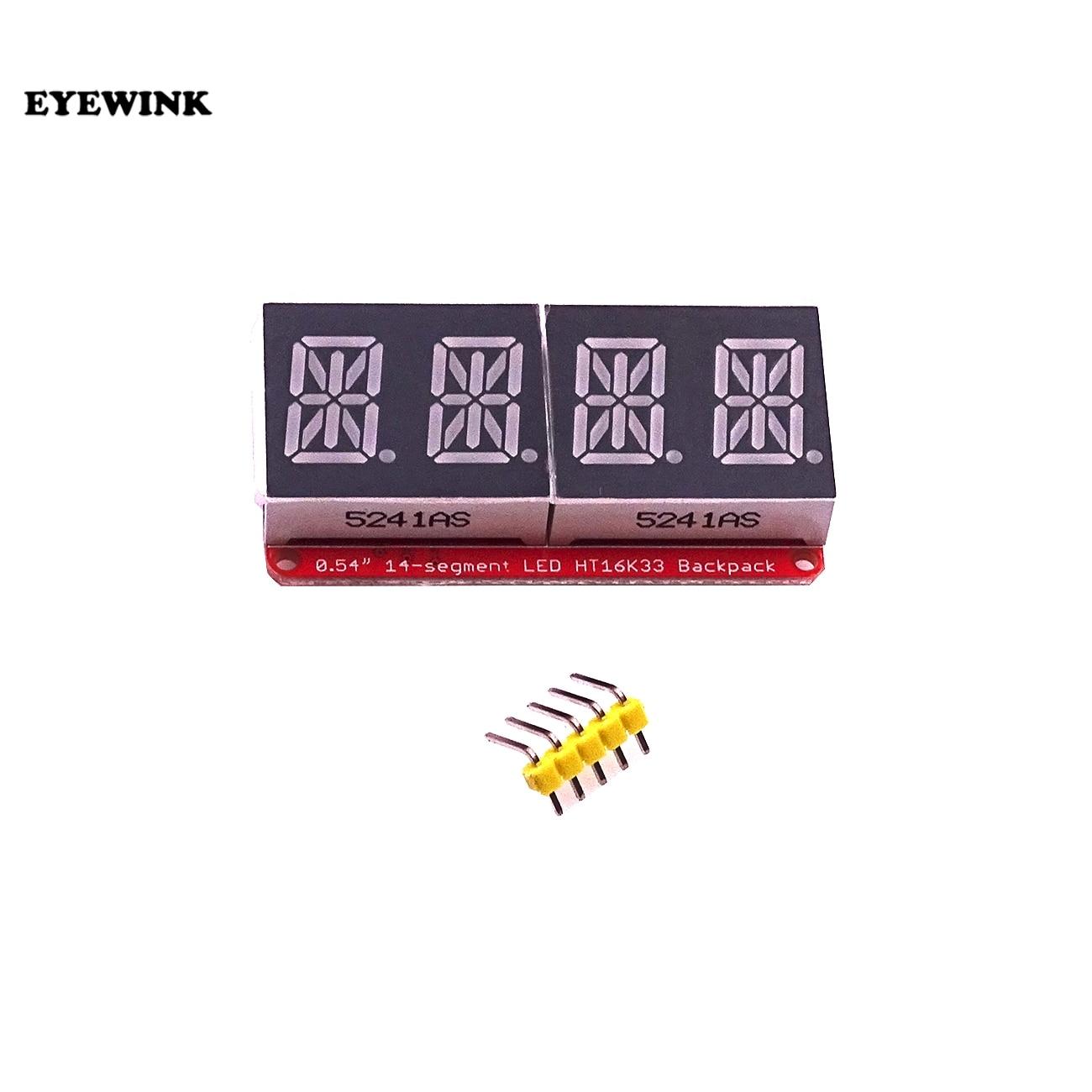 Module de tube numérique 4 bits HT16K33, 0.54 pouces, affichage LED, compteur de contrôle I2C, pour arduino