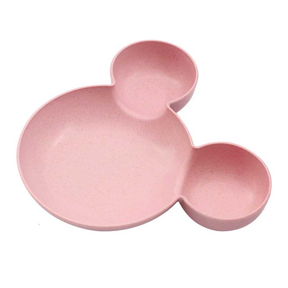 Pink Baby Cartoon Mouse Bowl