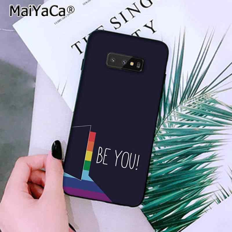 MaiYaCa lesbiana LGBT Arco Iris orgullo arte suave silicona TPU cubierta de teléfono para Samsung Note 3 4 5 7 8 9 galaxy A50 A70 galaxy J7 2018