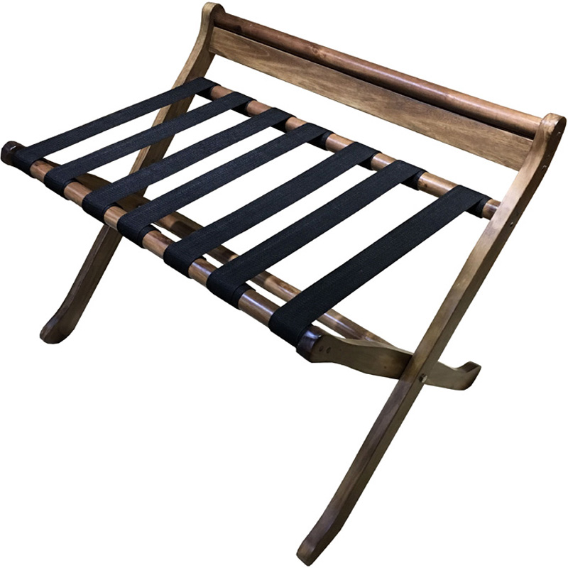 European Style Increase Bedroom Hotel Luggage Rack Folding Solid Wood Luggage Rack Room Rack Rack Hanger Household