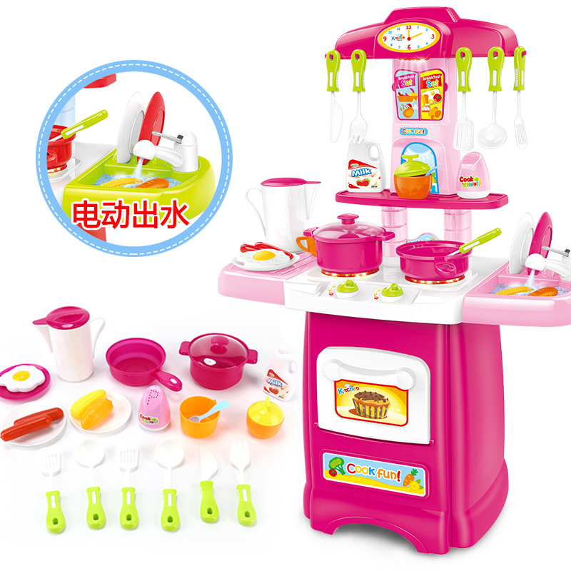 Children Cooking Doll House Do Play House Fantasy Kitchenette Model Dreamy Small Unisex Toy Non-Combination Women's