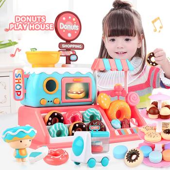 Symulacja słodycze w kształcie zabawek pączki dom lekka muzyka dzieci pączki zabawki Supermarket dom zestawy dziewczyny zabawki prezenty tanie i dobre opinie 999-82 Zawody 5-7 lat STARSZE DZIECI 14 lat i więcej 8 ~ 13 Lat Chiny certyfikat (3C) Light music