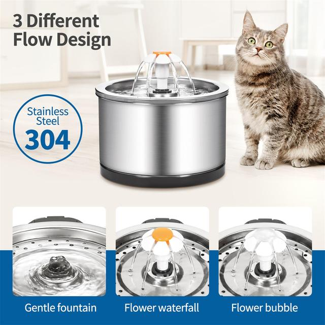 Automatic Stainless Steel Ultra Quiet Water Dispenser For Cats & Dogs  2