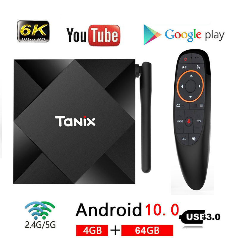 ТВ приставка Allwinner H616 Tanix TX6S, Android 10, 4 Гб ОЗУ 64 Гб ПЗУ, 4 ядра, 6K, Wi Fi ТВ-приставки и медиаплееры      АлиЭкспресс