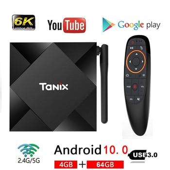 NEW Android 10.0 TV Box Max 4GB RAM 64GB ROM Allwinner H616 Tanix TX6S Android 10 QuadCore 6K Dual Wifi TX6 Media Player Youtube