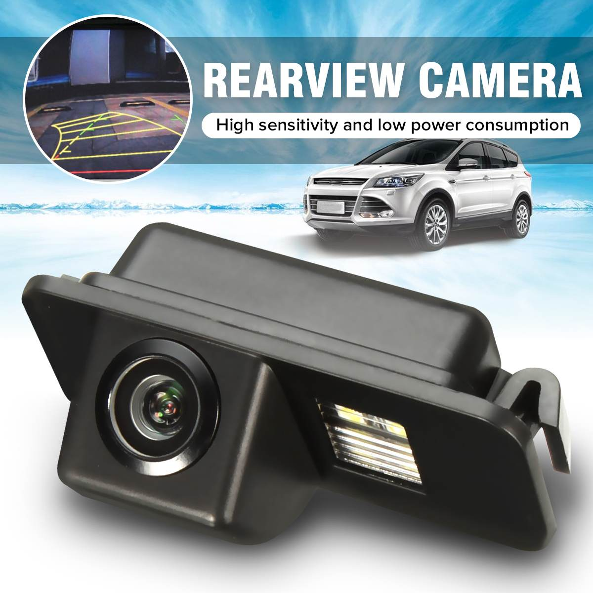 Wireless CCD HD Car Rear View Camera Reverse Parking Night Vision Waterproof for Ford Mondeo BA7 Focus C307 S-Max Fiesta Kuga