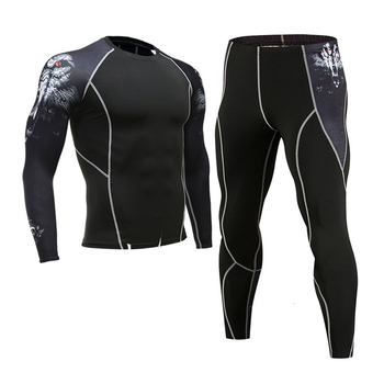 Men's Compression Sportswear Suits Gym Tights Training Clothes Workout Jogging Sports Set Running Rashguard Tracksuit For Men 17