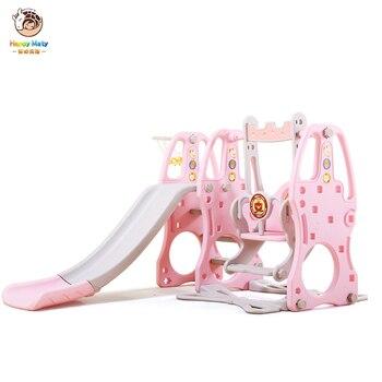 Baby  Indoor Slide Swing Combination Castle Themed Multi-function Slide Three in One Kids Mini Amusement Park Toys Maty 03 park swing garden swing amusement park equipment