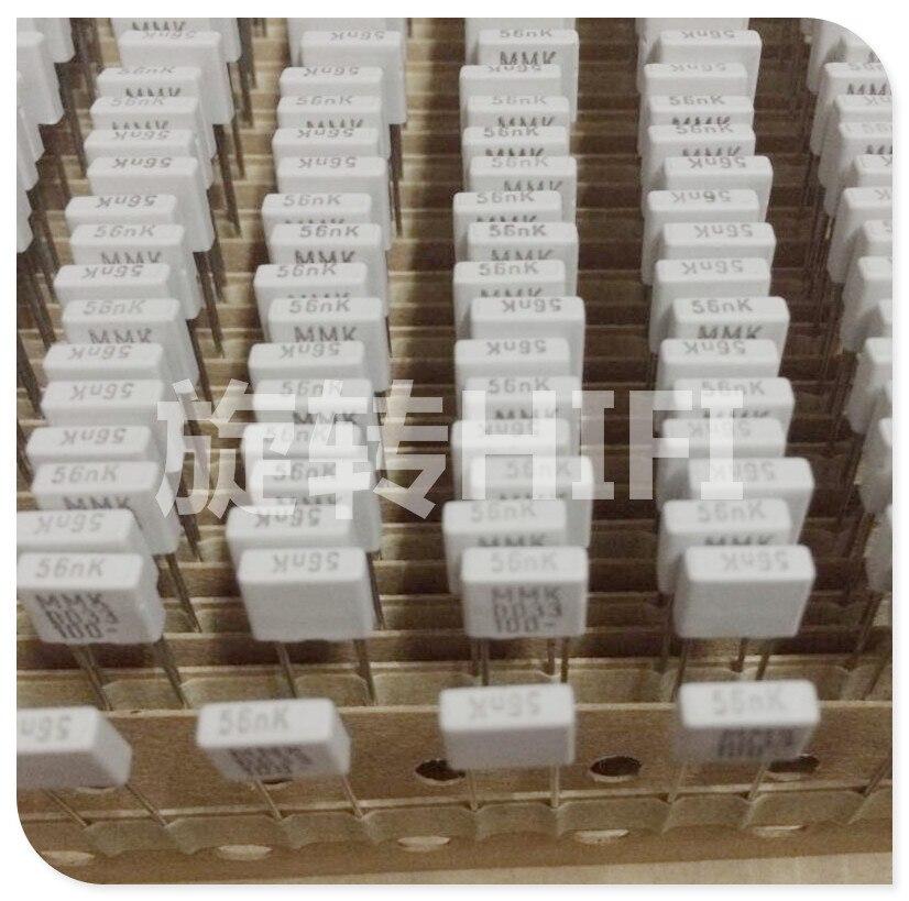 20PCS NEW EVOX MMK5 0.056UF 100V P5mm Film Capacitor MMK 563/100V Audio 563 Hot Sale 0.056UF/100V 56NF