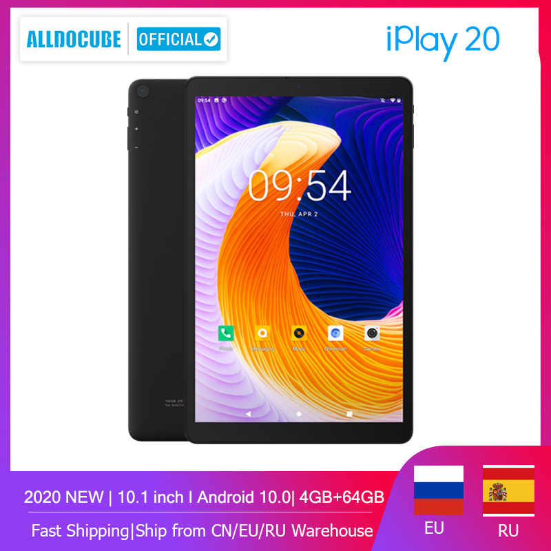 Alldocube iPlay20 Andorid 10,0 Tablet 10,1 zoll Octa-core 4GB RAM 64GB ROM anruf Tablet PC bluetooth 5,0 Typ-C 6000mAh